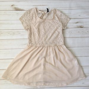 Lace sheer dress cream by H&M Divided